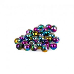 Rainbow Countersunk Tungsten Beads